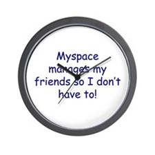 Myspace manages Wall Clock