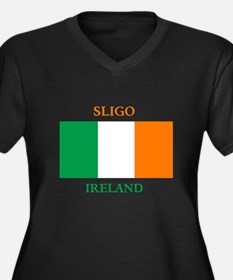 Sligo Ireland Women's Plus Size V-Neck Dark T-Shir