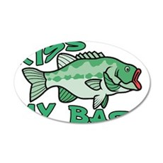 Kiss My Bass Wall Decal