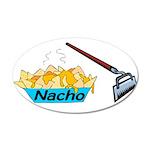 Nacho Hoe 35x21 Oval Wall Decal