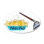 Nacho Hoe 20x12 Oval Wall Decal