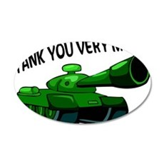 Tank You Very Much 35x21 Oval Wall Decal
