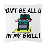 All Up In My Grill Woven Throw Pillow