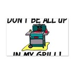 All Up In My Grill 20x12 Wall Decal