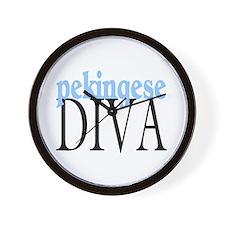 Pekingese Diva Wall Clock