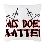 Sais Does Matter Woven Throw Pillow
