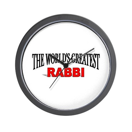"""The World's Greatest Rabbi"" Wall Clock"
