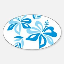 Blue Hibiscus Decal