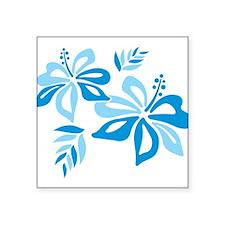 Blue Hibiscus Sticker