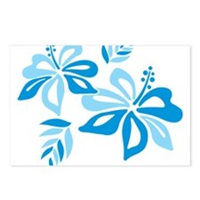 Blue Hibiscus Postcards (Package of 8)