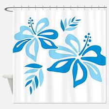 Blue Hibiscus Shower Curtain