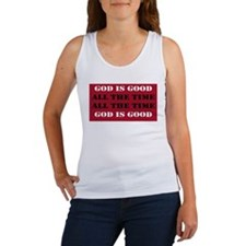 God is Good, All the Time - Red Tank Top