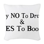 Yes To Booze Woven Throw Pillow