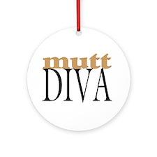 Mutt Diva Ornament (Round)