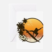 Tropics Surf Greeting Card