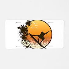 Tropics Surf Aluminum License Plate
