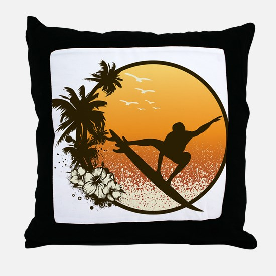 Tropics Surf Throw Pillow
