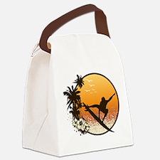 Tropics Surf Canvas Lunch Bag