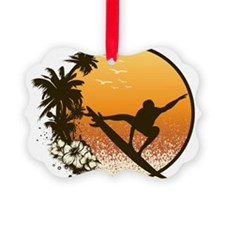 Tropics Surf Ornament