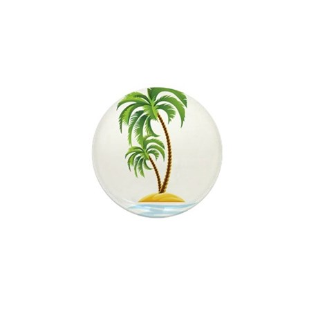 Palm Tree Mini Button (10 pack)
