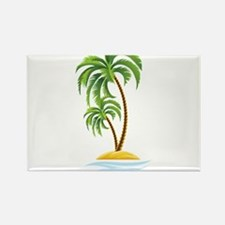 Palm Tree Rectangle Magnet