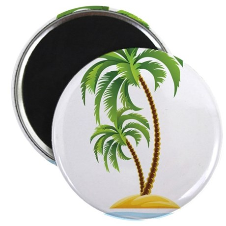 """Palm Tree 2.25"""" Magnet (10 pack)"""