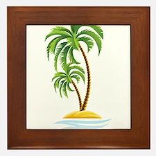 Palm Tree Framed Tile