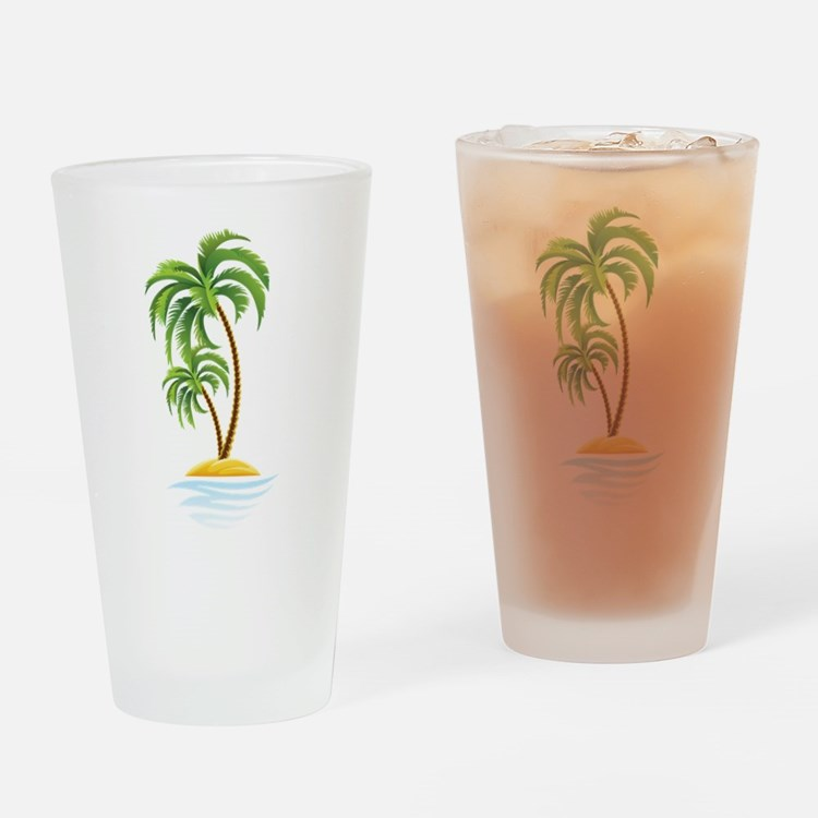 Palm Tree Drinking Glass