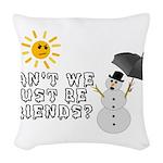Just Be Friends Woven Throw Pillow
