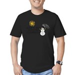 Just Be Friends Men's Fitted T-Shirt (dark)