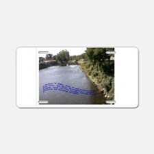 Living Waters Aluminum License Plate