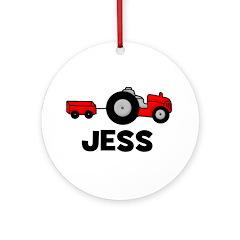 Tractor Jess Ornament (Round)