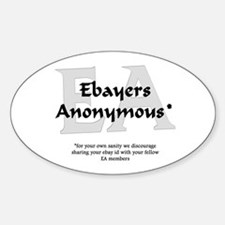Ebayers Anonymous Oval Decal