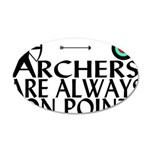 Archers On Point 20x12 Oval Wall Decal