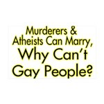 Why Can't Gay People 35x21 Wall Decal