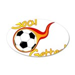Goal Getter 35x21 Oval Wall Decal
