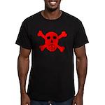 Peace Skull Men's Fitted T-Shirt (dark)