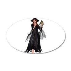 Witch Frog 35x21 Oval Wall Decal