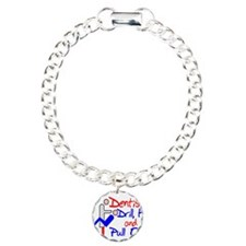 Dentists Drill Charm Bracelet, One Charm