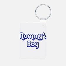 Mommy's Boy Aluminum Photo Keychain