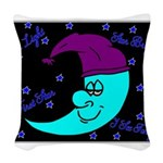 Sleepy Moonlight Woven Throw Pillow