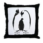 Multilingual Penguins Throw Pillow