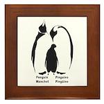 Multilingual Penguins Framed Tile
