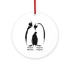 Multilingual Penguins Ornament (Round)