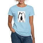 Multilingual Penguins Women's Pink T-Shirt