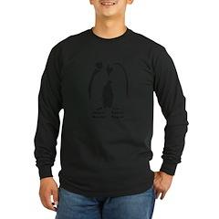 Multilingual Penguins Long Sleeve Dark T-Shirt