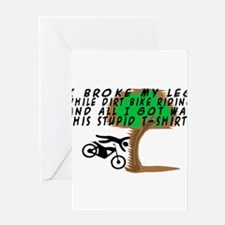 Dirt Bike Into Tree Greeting Card