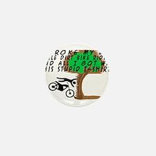 Dirt Bike Into Tree Mini Button
