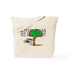 Dirt Bike Into Tree Tote Bag