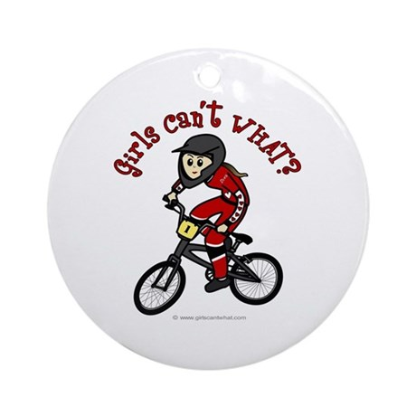 Light Red BMX Ornament (Round)